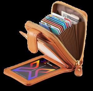 Portefeuille avec la carte de protection X-secure
