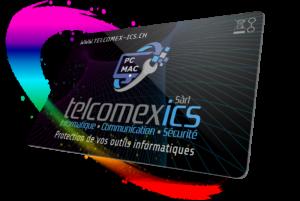 Carte de protection X-Secure Face Telcomex en 3D